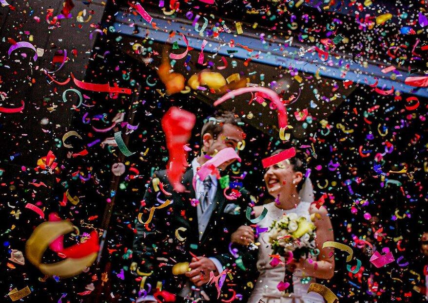 Ideas de qué lanzar a los novios a la salida de la boda