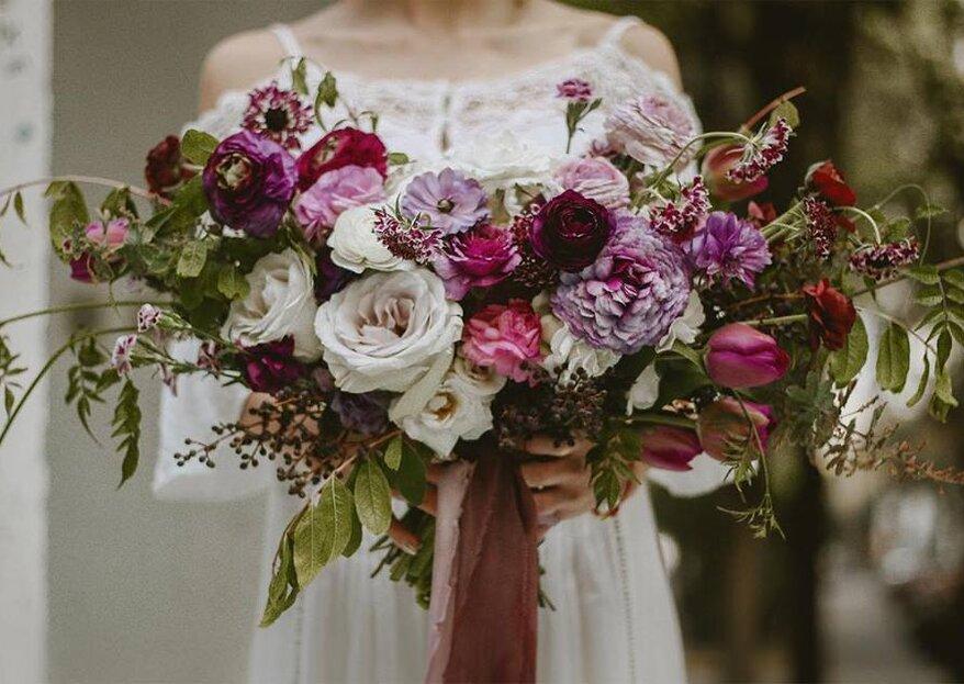 Elige el ramo perfecto, según la temporada de tu boda