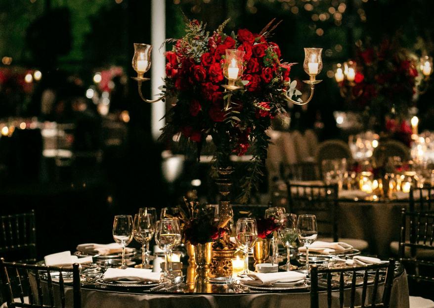 El rojo en la decoración de boda. ¡Atrévete con el color del amor!