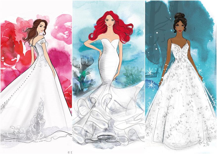 Tener el vestido de novia estilo Princesa de Disney, ¡ya es posible!