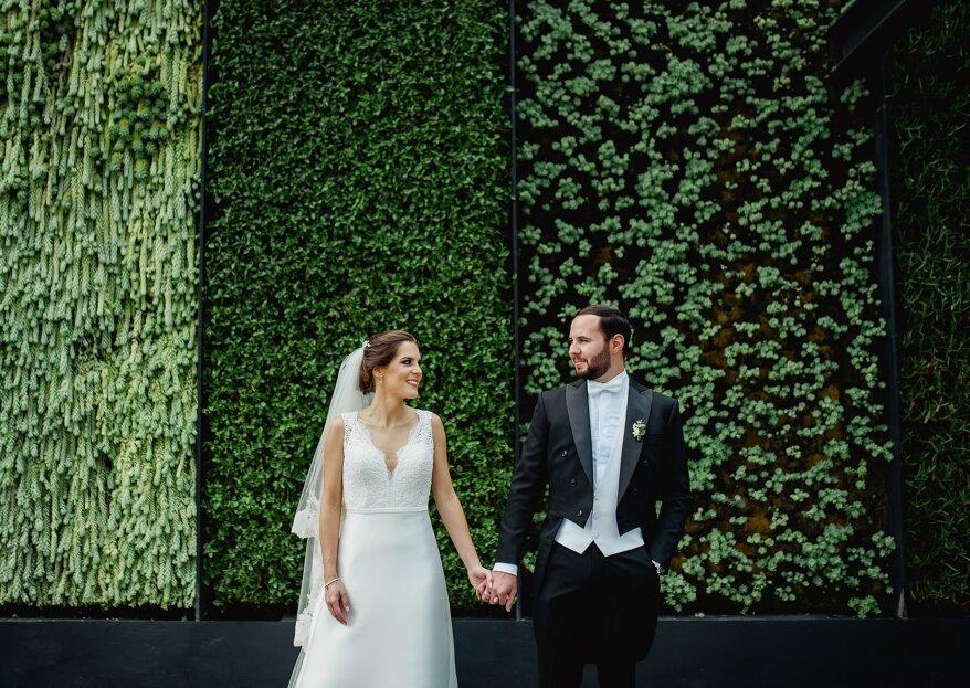 Una celebración contemporánea y elegante en The Westin Santa Fe: la boda de Andrea y Juan Carlos