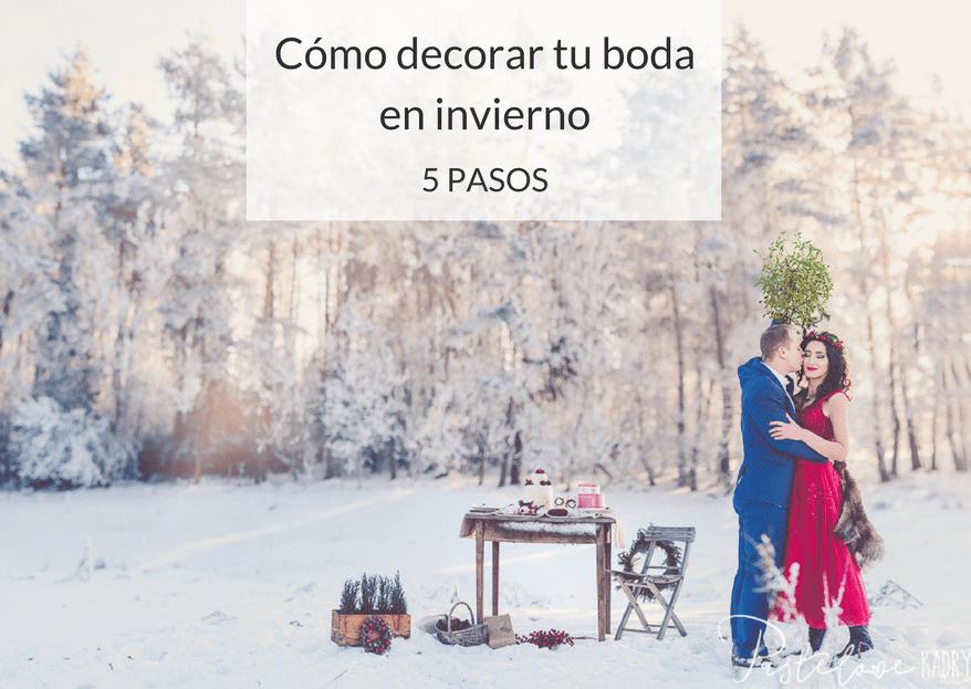 Cómo decorar una boda de invierno ¡5 ideas deco para tu gran día!