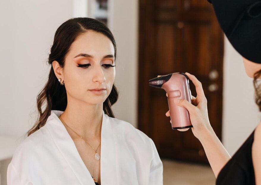 Maquillaje con aerógrafo para novias, pros y contras de utilizarlo