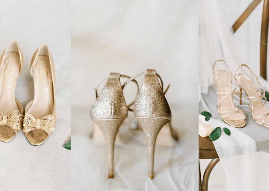 Zapatos de novia dorados: Deja que tu look brille al máximo con estas bellezas