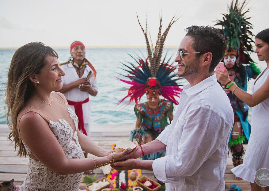 Mariana & Jimmy: una boda maya y espiritual ante la belleza de Bacalar