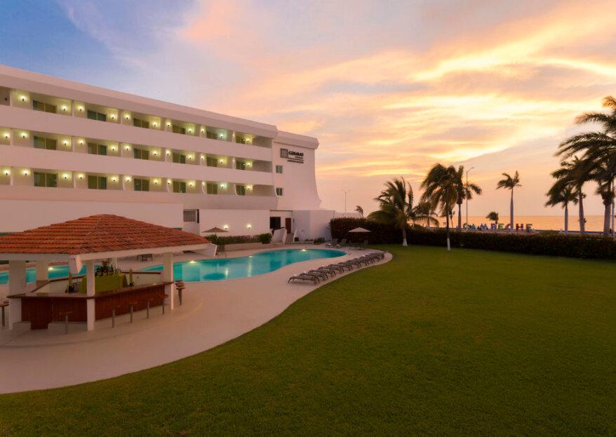Las bodas de alto nivel se celebran en el Hotel Gamma Campeche Malecón