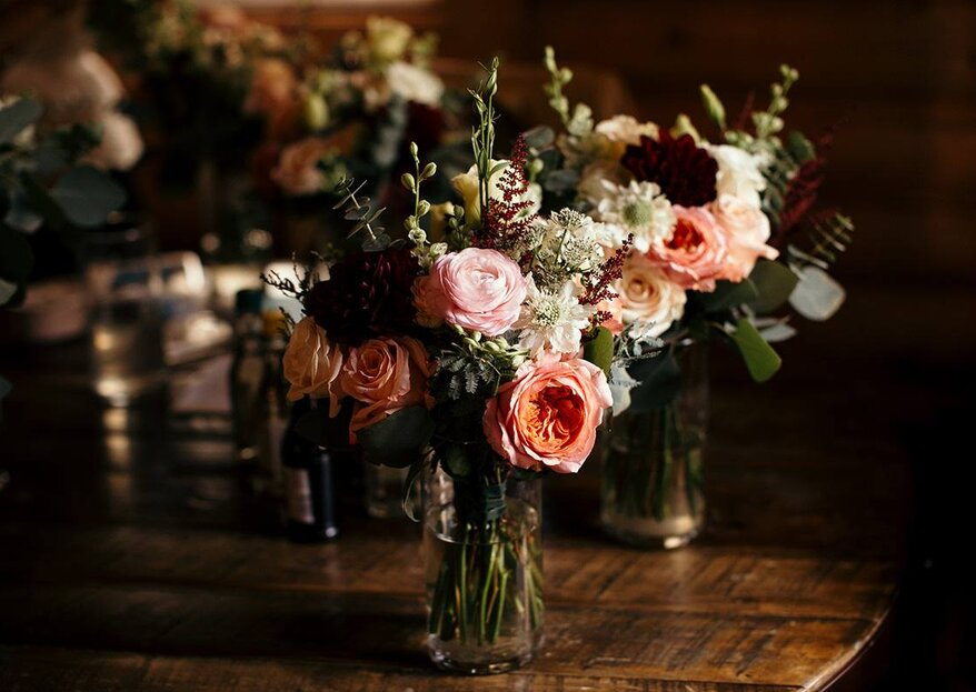 Arreglos de mesa - Cómo hacer el centro de mesa para mi boda