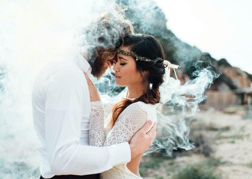 Fotos con humo de colores. Las ideas más divertidas para recordar