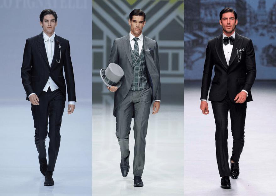 Trajes para hombre: Diferencias entre traje clásico, chaqué, esmoquin y frac